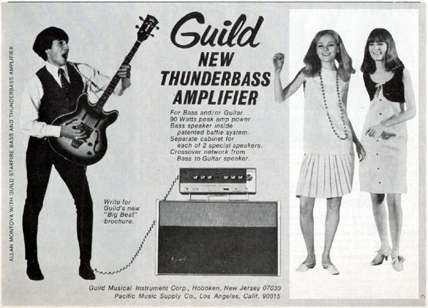 Guild advertisement (1966) New Thunderbass amplifier