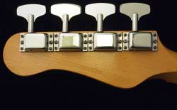 Kalamazoo KB bass headstock - back view