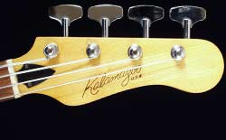 Kalamazoo KB bass headstock - front view