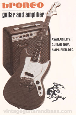 1967 Fender Bronco set announcement