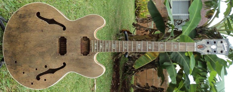 1968 Gibson ES-335TD - stripped