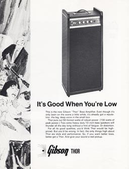 1968 Gibson publicity sheet - Gibson Thor