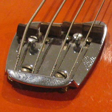 1968 Guild Starfire Bass - Hagstrom adjustable bass bridge