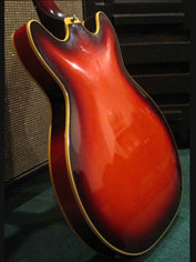 1968 Guild Starfire Bass - rear body detail