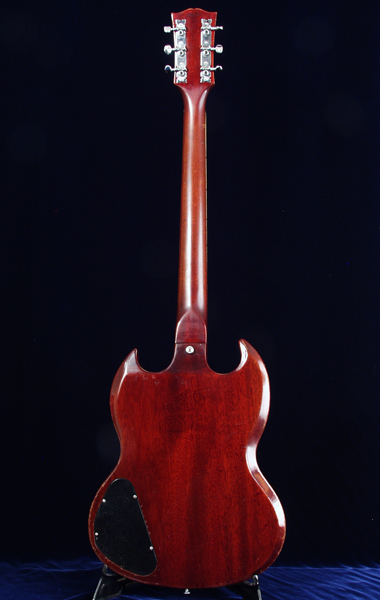 1969 Gibson SG Special rear body view