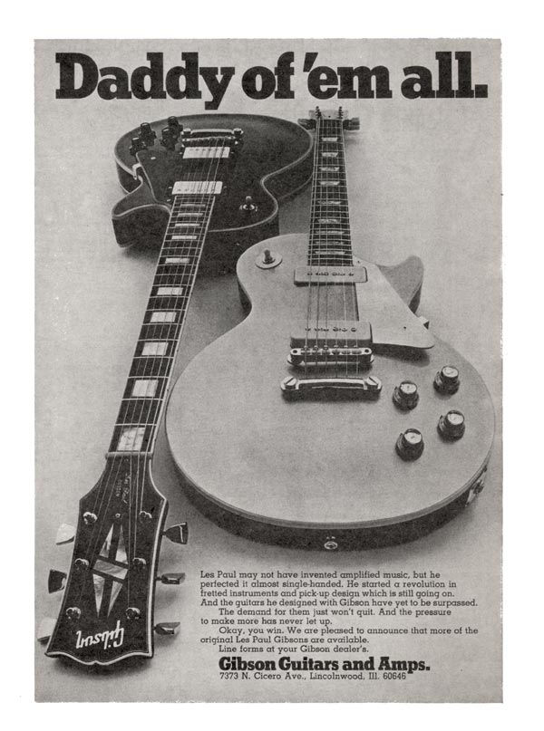Gibson advertisement (1969) Daddy of