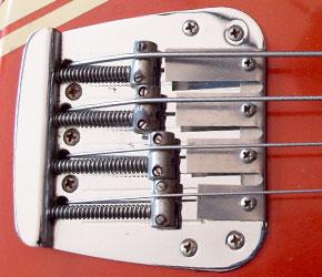 Fender Mustang bass bridge detail