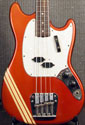 1969 Fender Mustang bass, Competition Red finish