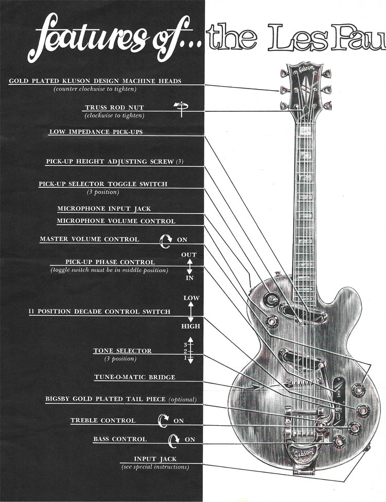 1969 Gibson Les Paul Personal / Professional owners manual - page 2