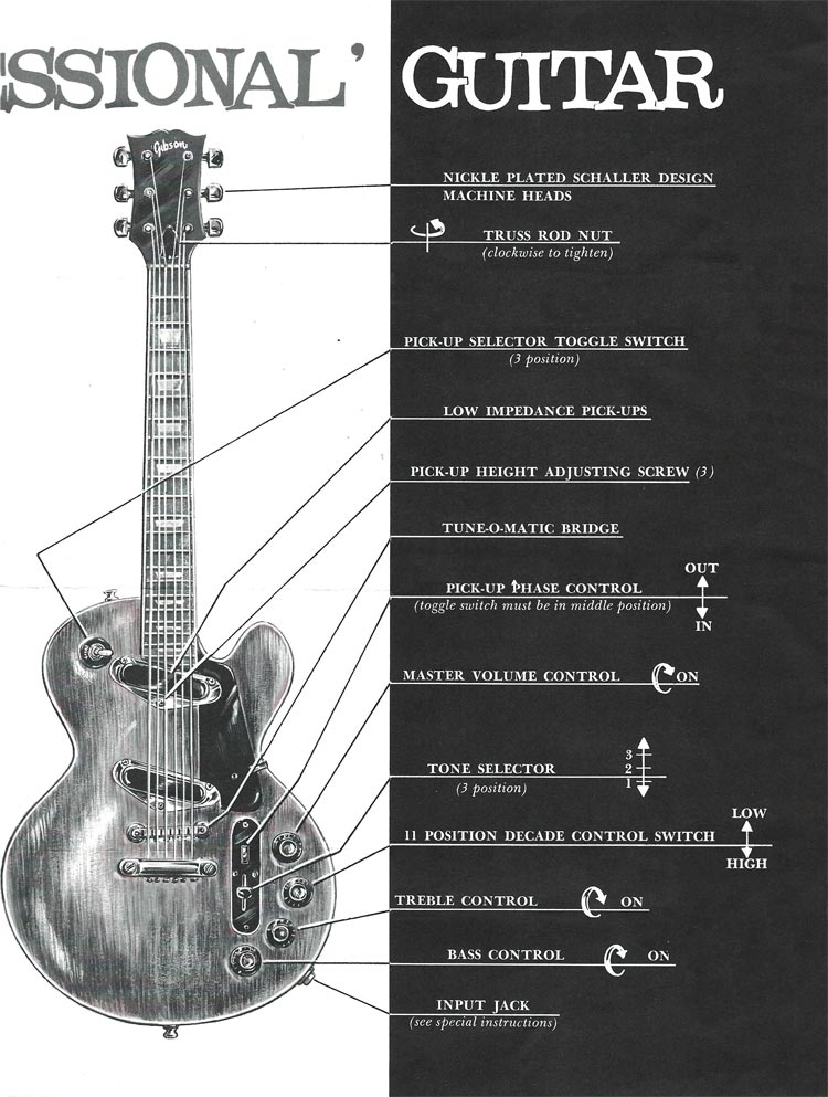 1969 Gibson Les Paul Personal / Professional owners manual - page 4