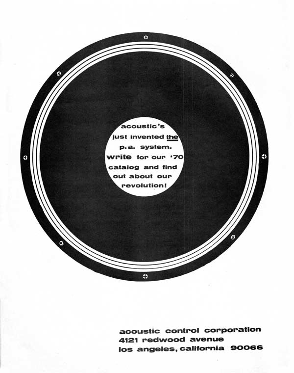 Acoustic advertisement (1970) Acoustic