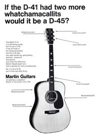 Martin D41 - If the D-41 Had Two More Whatchamacallits Would It Be a D-45