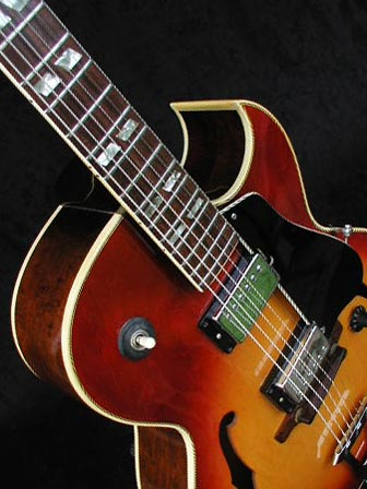 1970 Gibson ES-175D bound front back and neck