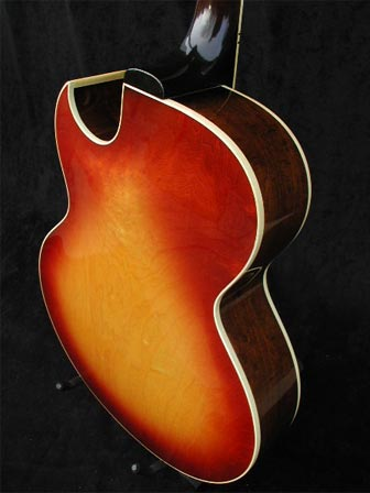 1970 Gibson ES-175D rear body detail