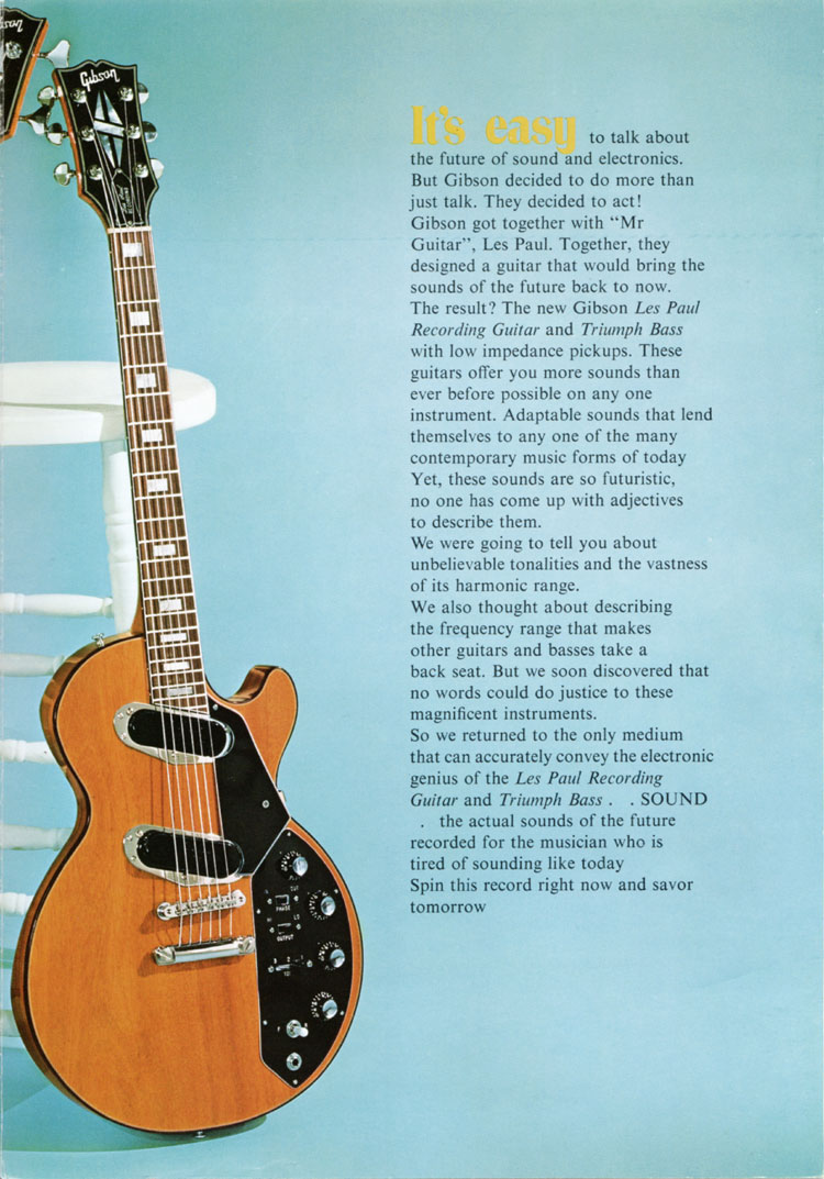 1971 Gibson low impedance brochure - page 3