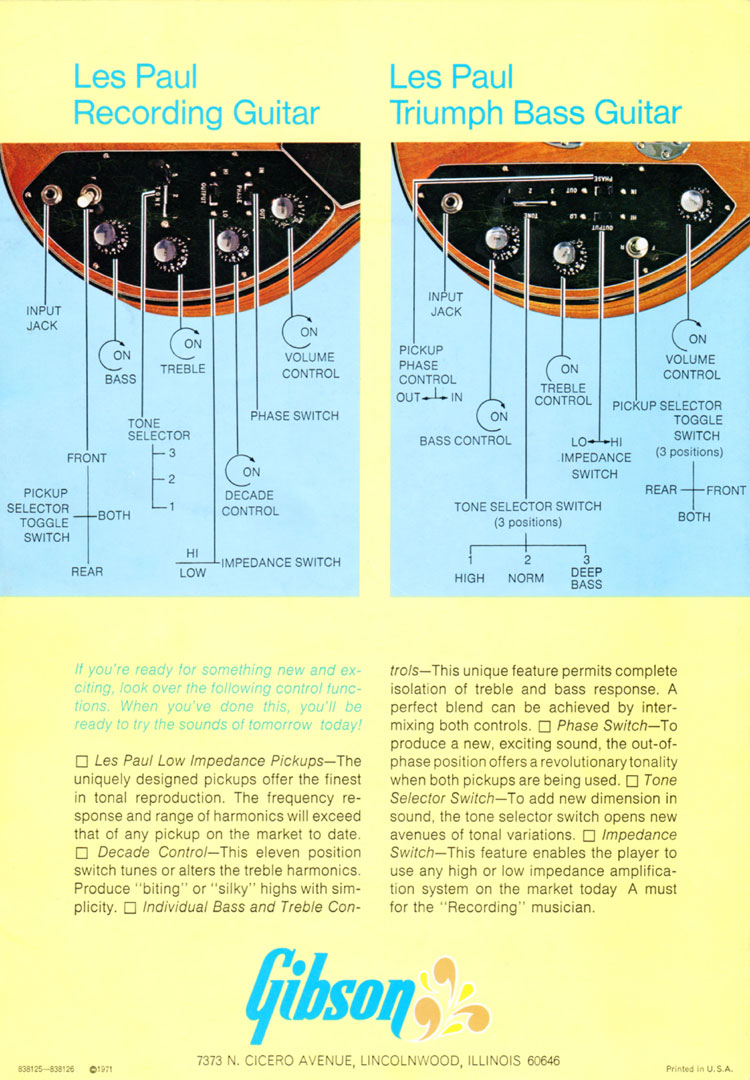 1971 Gibson low impedance brochure - page 4