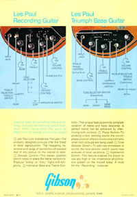 1971 Les Paul Low Impedance brochure page 4