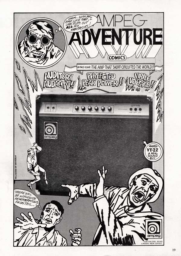 Ampeg advertisement (1971) Ampeg Adventure Comics