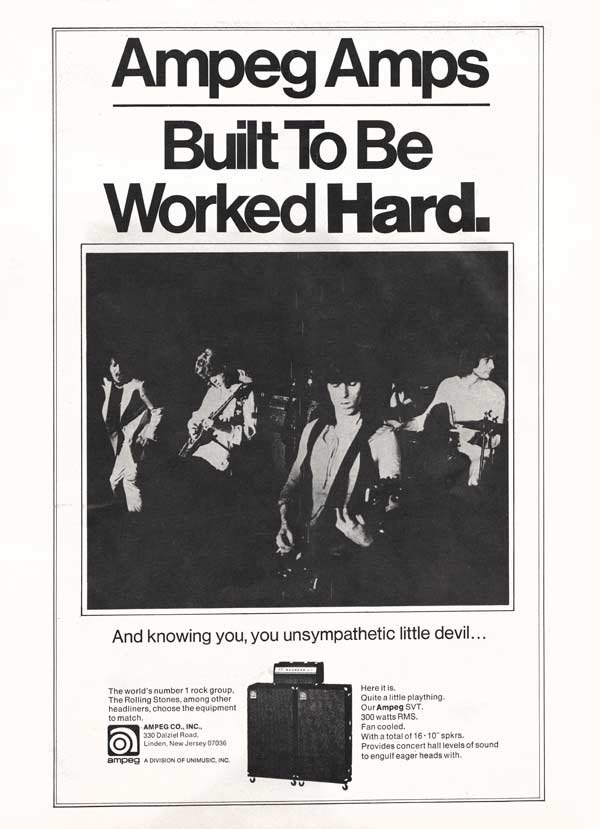 Ampeg advertisement (1971) Ampeg Amps - Built to be Worked Hard