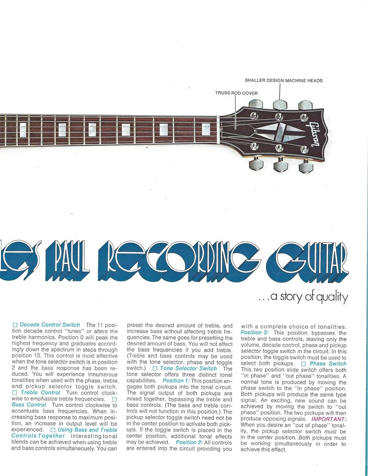 1971 Gibson Triumph bass owners manual - page 3