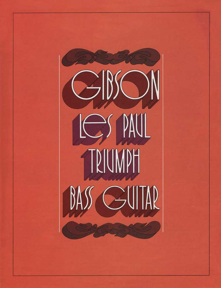 1971 Gibson Triumph bass owners manual - front cover