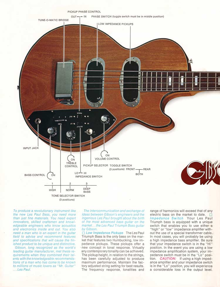 1971 Gibson Triumph bass owners manual - page 2