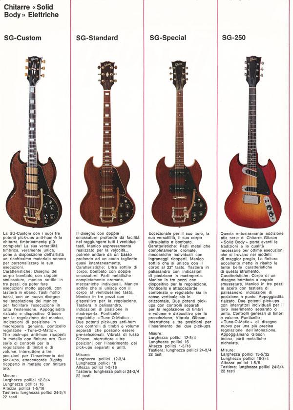 1971 Italian gibson brochure - page 3