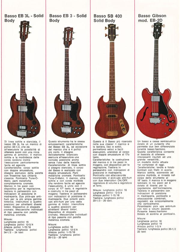1971 Italian gibson brochure - page 4