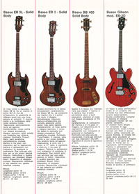 1971 Gibson guitar catalogue - Italian, Monzino - page 4