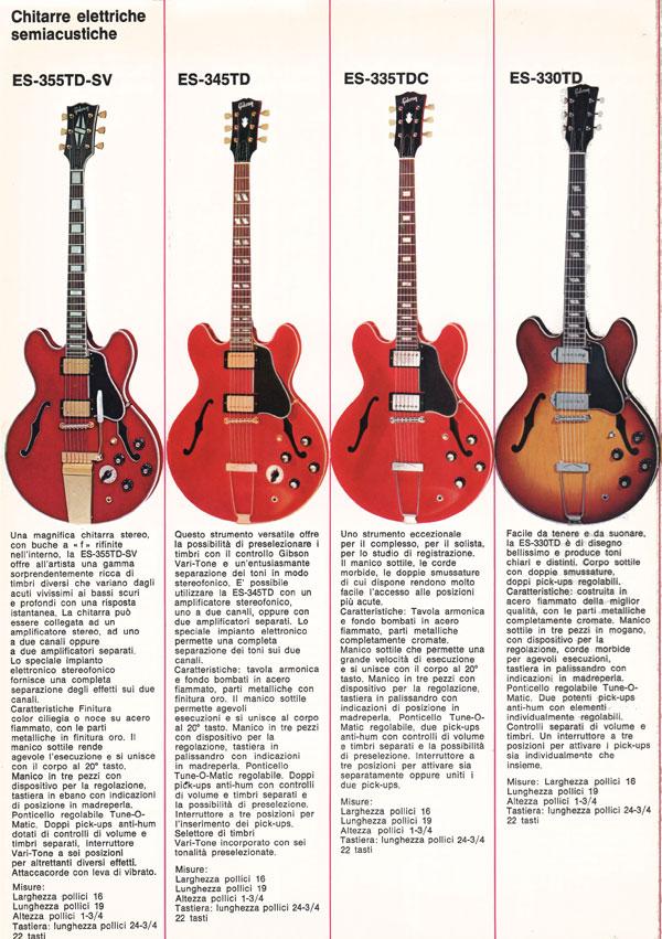 1971 Italian gibson brochure - page 5