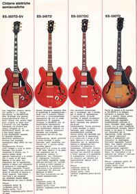 1971 Gibson guitar catalogue - Italian, Monzino - page 5