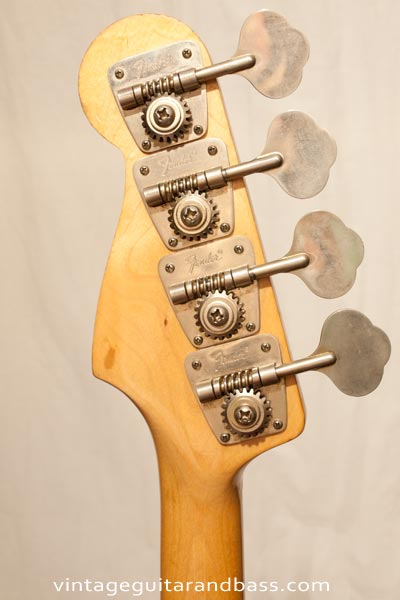 1972 Fender Precision bass - reverse headstock and tuning key detail