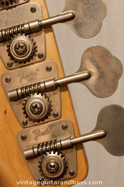 1972 Fender Precision bass front headstock detail