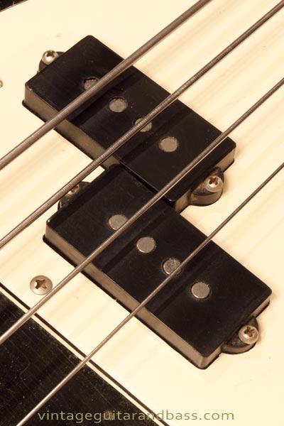 1972 Fender Precision bass pickup detail