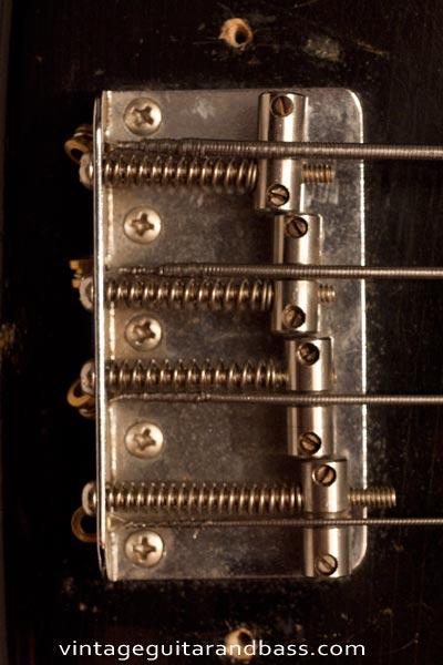 1972 Fender Precision bass bridge detail