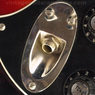 1972 Hagstrom HIIN-OT neck plate with serial number