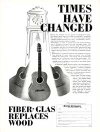 Ovation Acoustics - Times Have Changed - Fiber Glas Replaces Wood