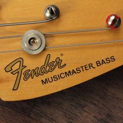 Fender Musicmaster bass logo