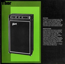 1974 Gibson amp catalogue - page 9 Gibson Thor