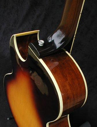 1974 Gibson ES-175D heel detail