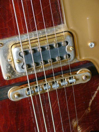 1976 Chet Atkins Gretsch Country Gentleman - bridge and bridge pickup detail