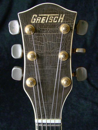 1976 Chet Atkins Gretsch Country Gentleman - headstock detail