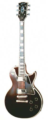 1977 Les Paul Custom. Nickel plated parts, wine red finish