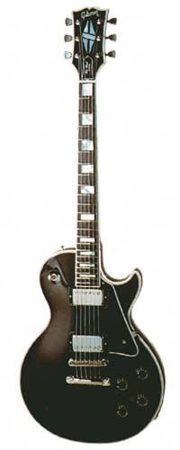 1977 Les Paul Custom. Nickel plated parts, ebony finish