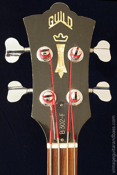 1978 Guild B302F - front of headstock detail