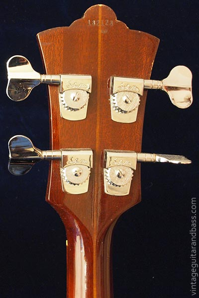 1978 Guild B302F - reverse headstock detail
