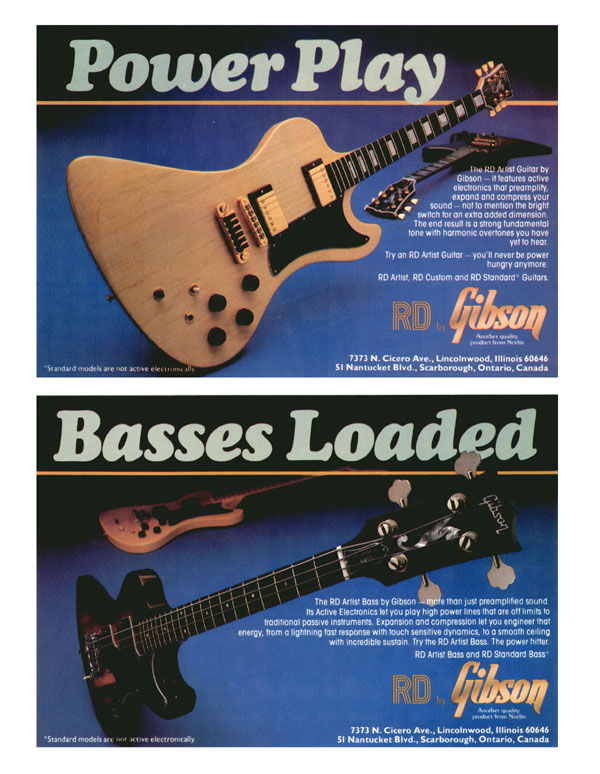 Gibson advertisement (1979) Power Play - Basses Loaded
