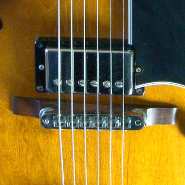 1979 Gibson ES-175D bridge detail