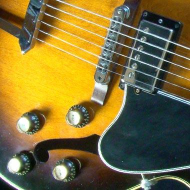 1979 Gibson ES-175D heel detail