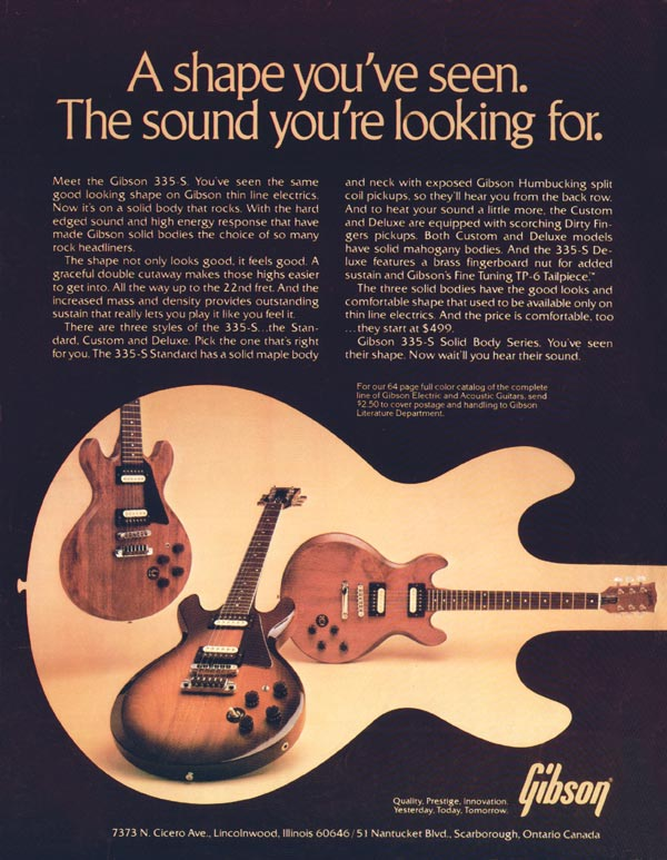 Gibson advertisement (1980) A Shape You
